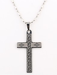 Personalized Gift Cross Shaped Engraved Stainless Steel Necklace