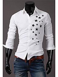 Herren-Stern-Druck Langarm-Shirt