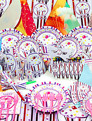 """Ice Cream"" Birthday Party Supplies - Set of 84 Pieces"