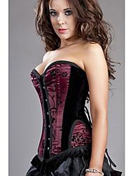 Women Overbust Corset Nightwear Patchwork Polyester / Spandex Women's