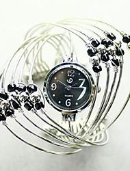 Mode multicouche perle divisée en deux montre de la ceinture de HEBE femmes