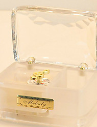 Transparent Cuboid Acrylic Music Box