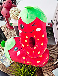Creative Red Strawberry Wool Women's Slide Slipper