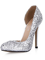 Sekt Glitter Damen Stiletto Round Toe Pumps / High Heels