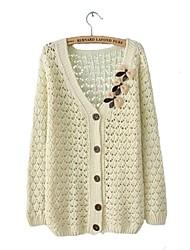Mujeres Nuevo Arco Hueco Dulce Cardigan suéter flojo suéter
