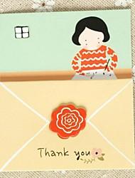 Non personnalisés Plis Roulés Invitations de mariage Cartes d'anniversaire-1 Pièce/Set Style artistique Papier d'art 12.5*12.5cm