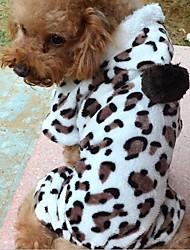 Leopard Print Warm Pet Clothes