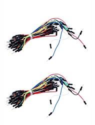 Marca nuevos cables electrónicos DIY 65pcs Breadboard Jumper Cable (2PCS)