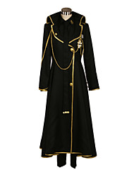 Inspired by Devil Survivor Yamato Hotsuin Video Game Cosplay Costumes Cosplay Suits Patchwork Black Coat / Shirt / Pants / Tie / Badge