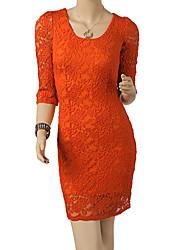 Missmay Frauen schnüren Sleeve Dress