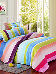 Manmei Brushed Print 4 Pcs Bedding(Duvet Cover*1,Sheet*1,And Pillowcase*2(SP29)