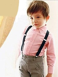 Pure color elastic children's suspenders
