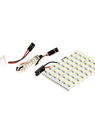 1PC 48 SMD 3528 12V White Led Panel Light for Motorcycle