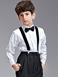 Four Pieces Ring Bearer Suit Clothing Set With Black Bow Tie