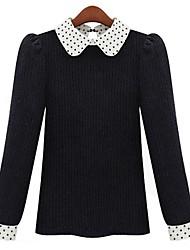 A Women COM.9 Pan Collar Pullover Lunares T-shirt