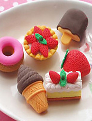 Delicious Food Shape Design Eraser(6 pcs)