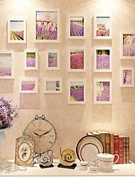 Colore bianco Photo Frame Collection Set di 15