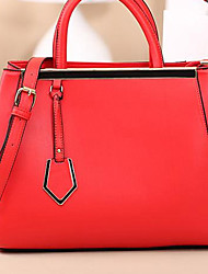 XUNDI Women's   Elegant Trendy Leather Bag(Red)