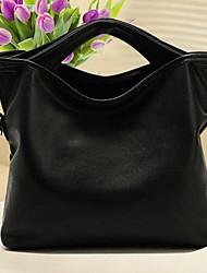 sac fourre-tout en cuir simple bandoulière décontracté weixiaohudie (noir)