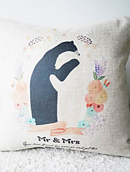 L 'Comic Mr.and Mrs.Anteater Happy Life coussin décoratif couverture