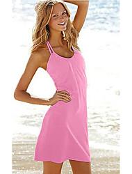 Verão Halter Praia Vestido das mulheres