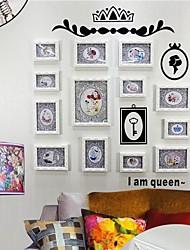 Branco Photo Collection Frame Set de 13 com a rainha adesivos de parede