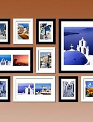 Colección del marco negro blanco de la pared Foto Set de 10