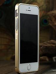 Grabado personalizado delgado de metal de parachoques del capítulo Shell para el iPhone 5/5s con el botón del metal (oro, Negro, Rosa)