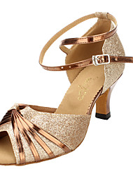 Women's Pretty Sparkling Glitter Ankle Strap Sandals Latin Dance Shoes