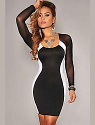 Women's Dresses , Cotton Casual FJSY