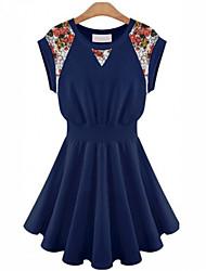 Random vestido de encaje sin mangas de la Mujer