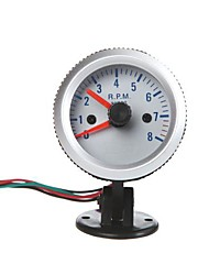 "Tachometer Tach Gauge with Holder Cup for Auto Car 2"" 52mm 0~8000RPM Orange Light"