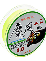 Yellow Green 100M PE Braid Fishing Line All LB Fishing Lines