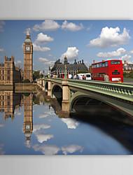 Натянутым холстом печати Искусство Пейзаж Река Биг Бен, Великобритания