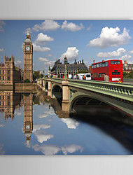 Stretched Canvas Print Art Landscape The River of Big Ben, UK