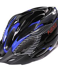 FJQXZ Мужская PC + EPS 21 Вентс черный + синий Ajustable велосипедный шлем