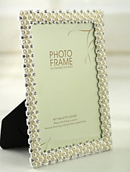 Contemporary Style Metal Pearls Picture Frame