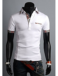 Stand Collier Fashion Slim Polo hommes