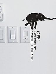 Animals  The Elephant Switch Sticker Wall Stickers