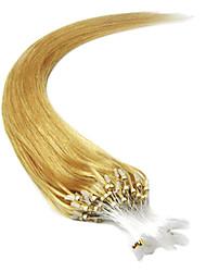 20inch 1pcs Mikroringe Perlen Schleifen gekippt gerade Haarverlängerungen mehr helle Farben 100s / pake 0,5 g / s