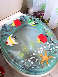Tropical Fishes  Pattern Transparent Toilet Seat
