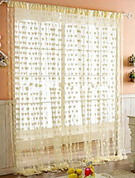 """Beautiful Hearts In House Curtain Line - Three Colors Available (39""""W × 78""""L)"""