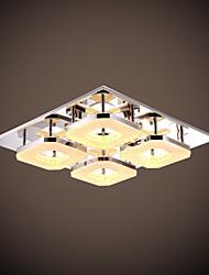 UMEI ™ 32w conduit acrylique encastré, 4 lumière, acrylique moderne galvanoplastie acier inoxydable