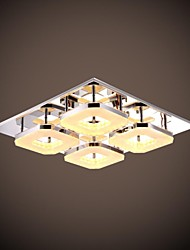 UMEI™ 32W Led Acrylic Flush Mount, 4 light, Modern Acrylic Electroplating Stainless Steel