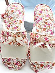Fashion Beige Flower Women's Slide Slipper