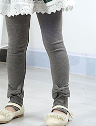 Mädchen Solid Color Bowknot Leggings