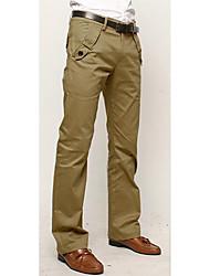 LUO YI   Casual Korean Cotton Long Pants(Khaki, Gray, Black)
