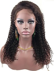 "Affordable Full Lace 18"" Ripple Curl 100% Indian Remy Human Hair Lace Wig-5 Colors to Choose"