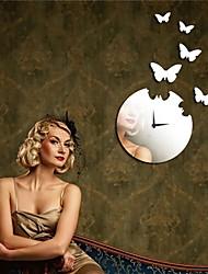 "22 ""H Modern Style Papillon Miroir Horloge murale"
