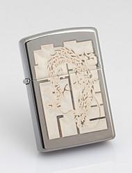 Isqueiro personalizado padrão gravado Dragão Cinza Oil